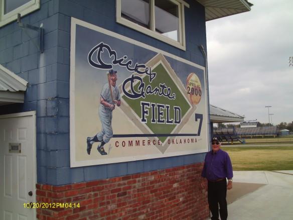 Robert Hilligoss at Mantle Field, Commerce High School