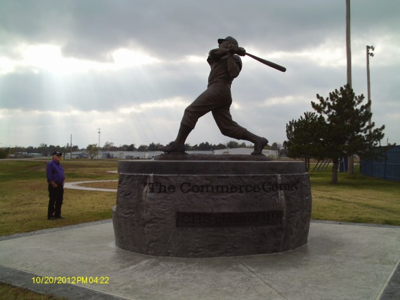 Robert Hilligoss at Mickey Mantle Field, Commerce, Oklahoma 2012