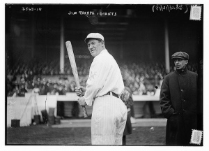 Jim Thorpe as member of NY Giants, 1913