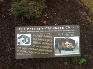 Assembly of God Church placard, Elvis Presley Birthplace, Tupelo, Ms