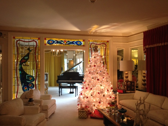 The Music Room, Graceland. The piano in back is the one Elvis and James Brown used on their jam session