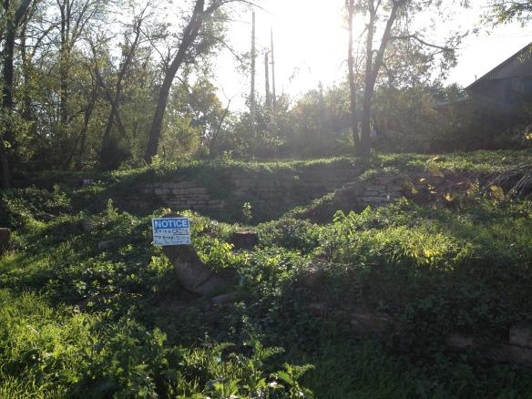 Original foundation of Guthrie's boyhood home, Okemah, Oklahoma