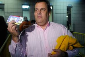 New Jersey Governor Chris Christie at a Springsteen concert