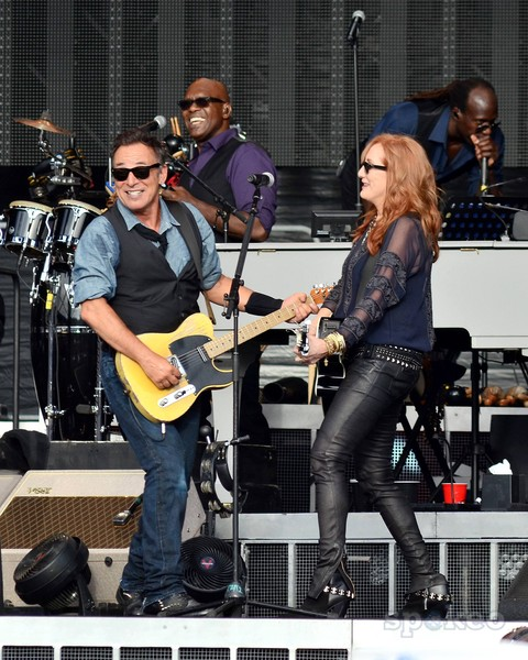 Springsteen onstage with wife Patti Scialfa