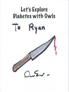 Diabetes Owls bookplate