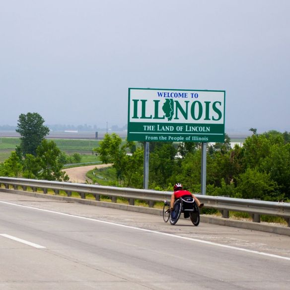 Ryan Chalmers pushes Across America and into The Land of Lincoln