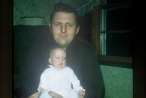 Kimberly Rae Renner Hilligoss with her dad Dennis Renner, 1974