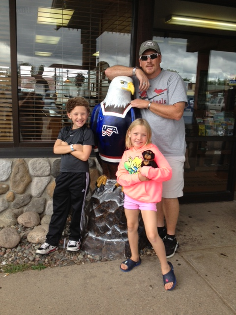 Graham Ronald, Aurora Eva Rose and Ryan Barr Hilligoss. September 2013, Eagle River Wisconsin