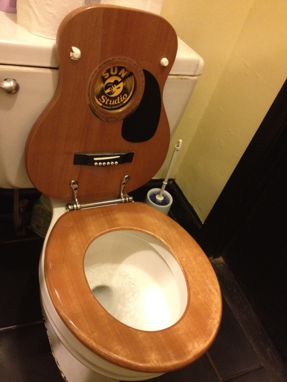 A toilet fit for a King, restroom in Sun Studios, Memphis, Tn