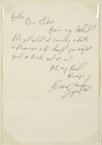 A 'Dear John' Letter