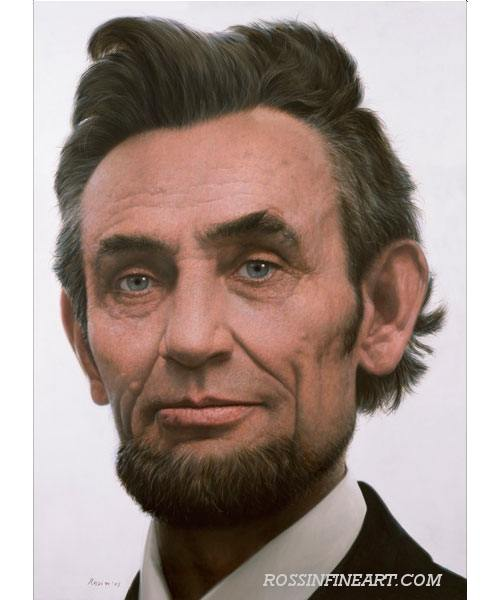 Abraham Lincoln in lifelike color