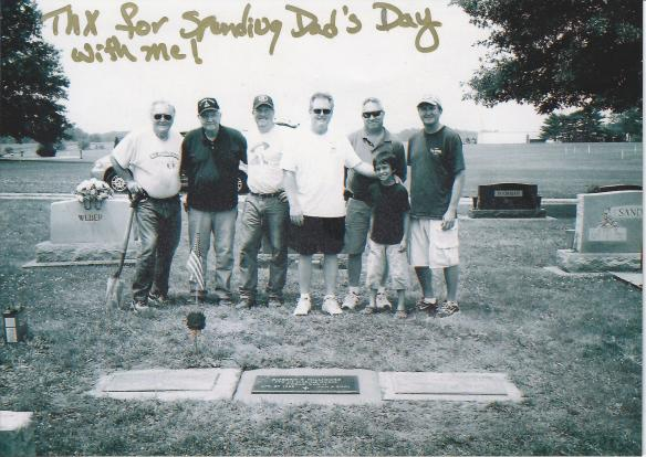 Four generations: Father's Day 2010, Humboldt, Il cemetery