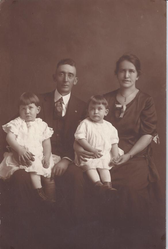 The Cook Family: Letha, Ed, Mary and Ruth, left to right.