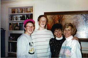 Sean, Ryan, Big G, Mom 1988-3