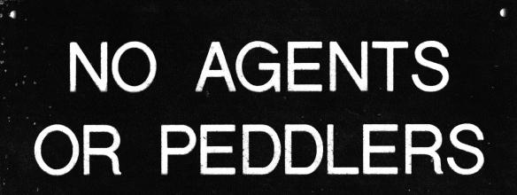 No agents or peddlers